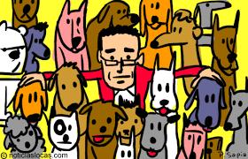 hombre que adoptó 735 perros abandonados