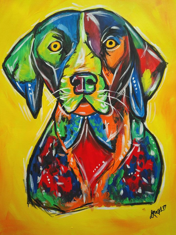 El arte de mascotas de Raquel Recinos