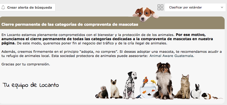 España dice NO a la venta de mascotas en linea!