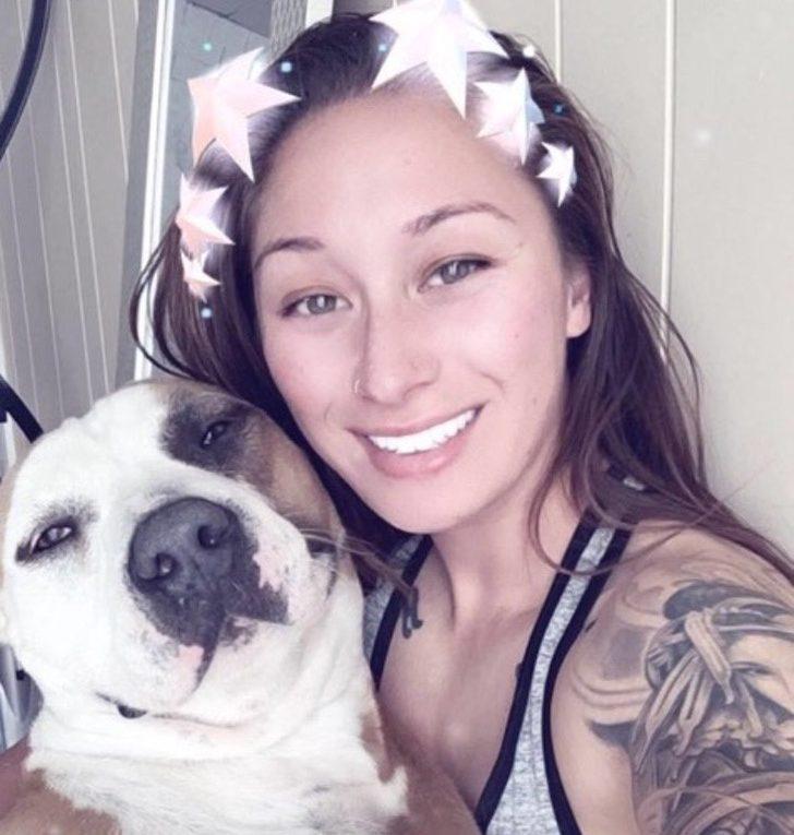 mujer salva a su perro de los incendios en california 2