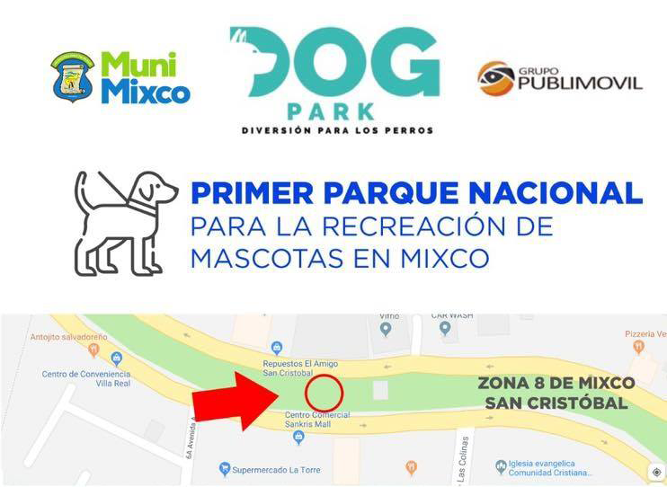 Parque para la recreación de mascotas