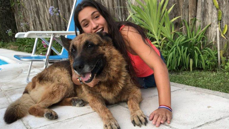 perro muerde a su dueña en una sesión de fotos