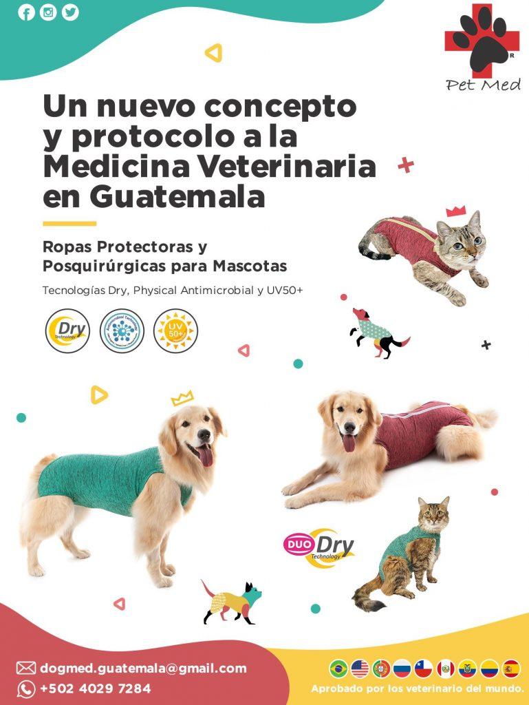 Ropas Protectoras post quirúrgicas de PET MED